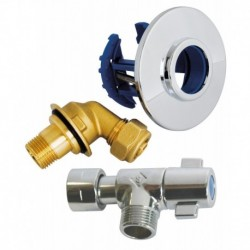 "Kit FIXOPLAC + robinet WC - PER compression 12 / Mâle 12/17 (3/8"")"