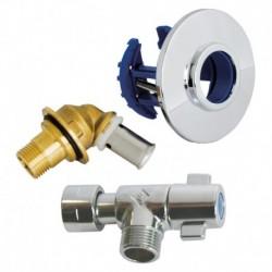 """Kit FIXOPLAC + robinet WC - PER sertir 12 / Mâle 12/17 (3/8"""")"""