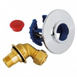 "Sortie de cloison FIXOPLAC robinet WC - PER compression 12 - Mâle 12/17 (3/8"")"