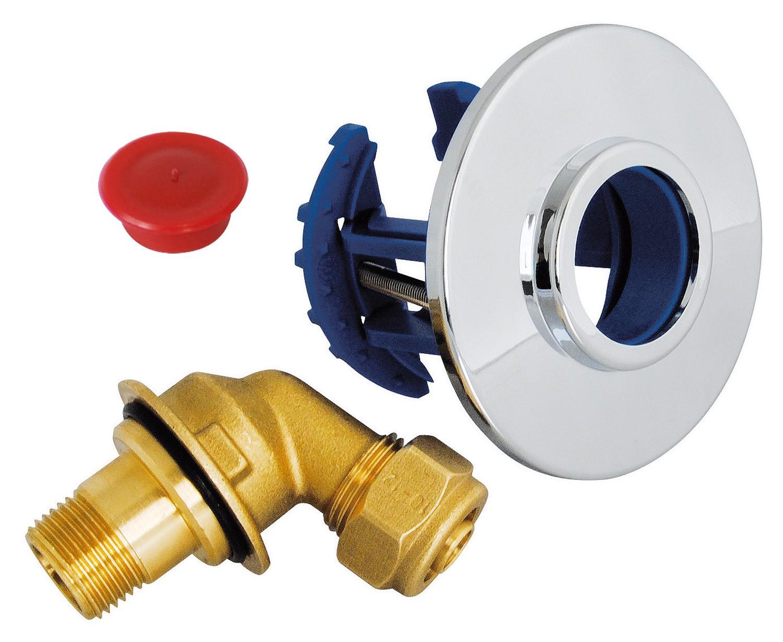 Sortie de cloison fixoplac robinet wc per compression 12 - Adaptateur robinet machine a laver ...