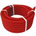 Tube PER PEX-B prégainé rouge Ø12 X 1,1 - 15 m