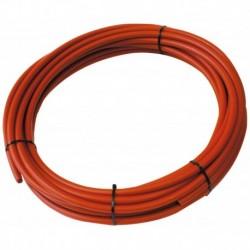 Tube PER PEX-A Nu rouge diamètre 20 - 100m