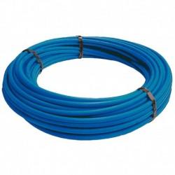 Tube PER PEX-A Nu bleu diamètre 20 - 100m