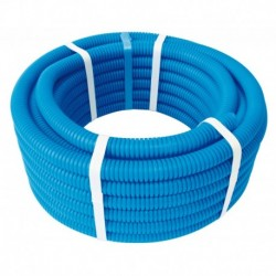 Tube PER PEX-B gainé bleu diamètre 12 - 100m