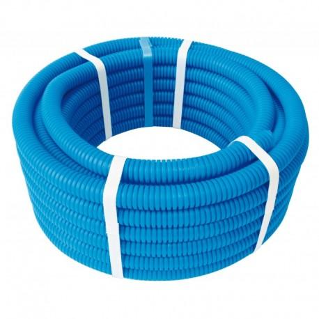Tube PER PEX-A gainé bleu diamètre 12 - 50m