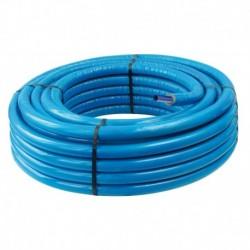 Tube PER PEX-B gainé isolé bleu diamètre 16 - 50m