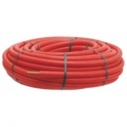Tube PER PEX-A gainé rouge diamètre 12 - 100m
