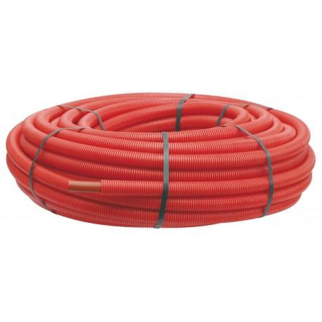 Tube PER PEX-A gainé rouge diamètre 12 - 100m