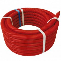 Tube PER PEX-B gainé rouge diamètre 12 - 100m