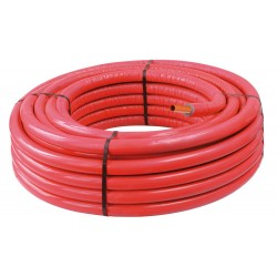Tube PER PEX-B gainé isolé rouge diamètre 12 - 100m