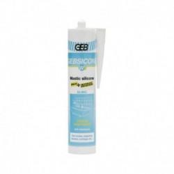 Mastic silicone blanc - 310 ml - Gebsicone W2