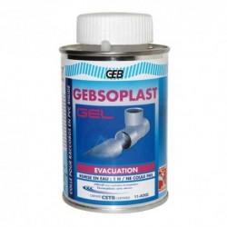 Colle PVC évacuation GEBSOPLAST G GEL pot 1 litre + pinceau