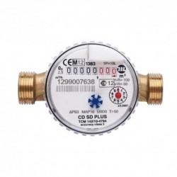 Compteur eau chaude lecture directe - Calibre 20 Mâle 36/34