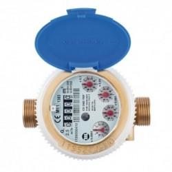 Compteur eau chaude totalisateur - Calibre 15 Mâle 20/27