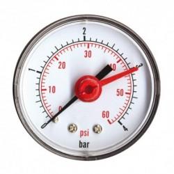 Manomètre sec axial 0 à 4 bars 63mm Mâle 8/13