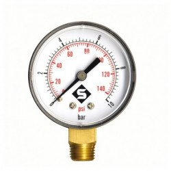 Manomètre sec radial 0 à 4 bars 50mm Mâle 8/13