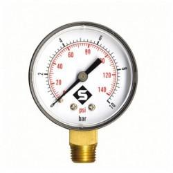 Manomètre sec radial 0 à 16 bars 50mm Mâle 8/13