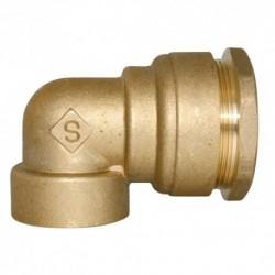 Coude femelle diamètre 50 mm pour tube PE