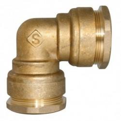 Coude égal diamètre 25 mm pour tube PE