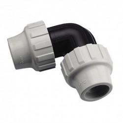 Coude égal plastique pour tube PE semi-rigide diamètre 25