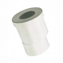 Pipe WC droite excentrée diamètre 100mm