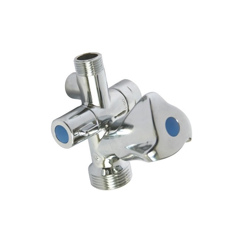 Robinet inclin double sortie avec applique 13 80 - Double robinet machine a laver ...