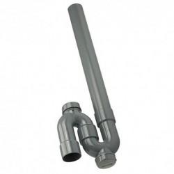 siphon tubulaire ABS avec 2 bouchons